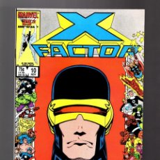 Cómics: X-FACTOR 10 - MARVEL 1986 VFN / CYCLOPS MARVEL 25 TH ANNIVERSARY COVER / WALTER SIMONSON. Lote 168681948