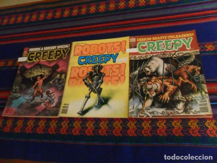 CON MUCHA PUBLICIDAD DE STAR WARS LA GUERRA DE LAS GALAXIAS, 3 NºS DE CREEPY. 1978. WARREN. (Tebeos y Comics - Comics Lengua Extranjera - Comics USA)