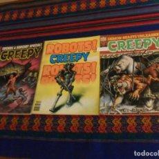 Cómics: CON MUCHA PUBLICIDAD DE STAR WARS LA GUERRA DE LAS GALAXIAS, 3 NºS DE CREEPY. 1978. WARREN.. Lote 169180020