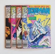 Cómics: MARVEL COMICS - ICEMAN LIMITED SERIE COMPLETA Nº 1 AL 4 EDICIÓN USA 1984 X-MEN. Lote 169282264