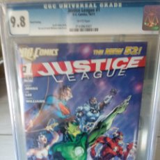 Cómics: 9.8 CGC JUSTICE LEAGUE #1 NEW 52, 2011 ,JIM LEE, GEOF JOHNS, NUEVO, ¡¡ÚNICO!!. Lote 144895626