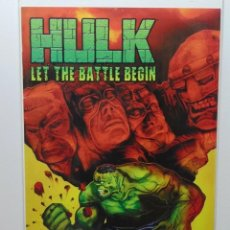 Comics : HULK LET THE BATTLE BEGIN #1 ONE-SHOT MARVEL COMICS . Lote 171010480