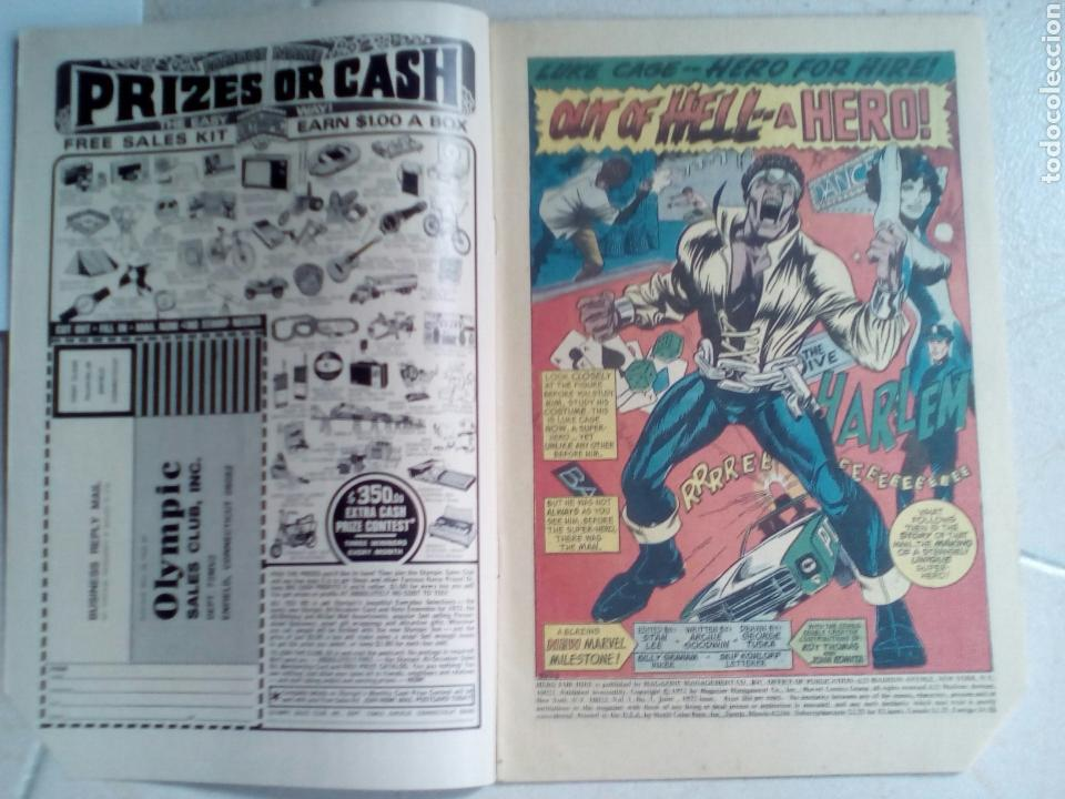 Cómics: POWER-MAN / HERO FOR HIRE 1 - MARVEL 1972 VG / 1ST LUKE CAGE - Foto 3 - 171701418