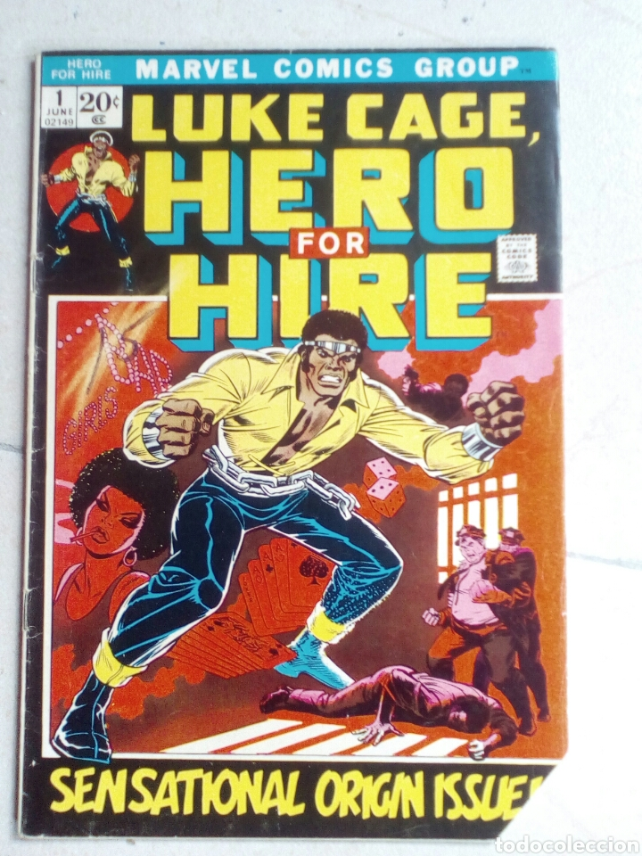 POWER-MAN / HERO FOR HIRE 1 - MARVEL 1972 VG / 1ST LUKE CAGE (Tebeos y Comics - Comics Lengua Extranjera - Comics USA)
