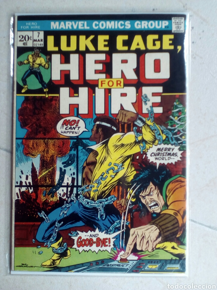 POWER-MAN / LUKE CAGE HERO FOR HIRE 7 - MARVEL 1973 FN (Tebeos y Comics - Comics Lengua Extranjera - Comics USA)
