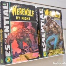 Cómics: WEREWOLF BY NIGHT MARVEL COMICS ESSENTIAL COMPLETA 2 VOLUMENES - EN INGLES. Lote 172110377