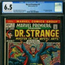 Cómics: OFERTA MARVEL PREMIERE 3 CGC 6.5 DR. STRANGE. STAN LEE. Lote 172383827