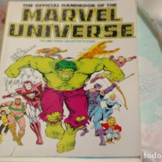 Cómics: THE OFFICIAL HANDBOOK OF THE MARVEL UNIVERSE VOLUME THREE, COLOR. Lote 173099038