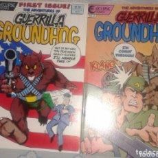 Cómics: THE ADVENTURES OF GUERRILLA GROUNDHOG: COMPLETA, 2 NÚMEROS: ECLIPSE. Lote 35923515