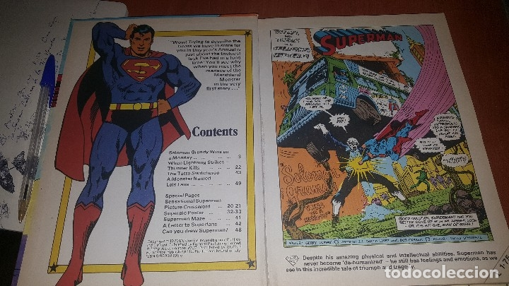 Cómics: Superman, official annual 1980, tapa dura, texto en ingles - Foto 3 - 174280318