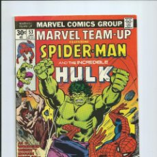 Comics : MARVEL TEAM UP Nº 53 (1976): SPIDERMAN - HULK. EXCELENTE ESTADO. ORIGINAL MARVEL. Lote 174324417