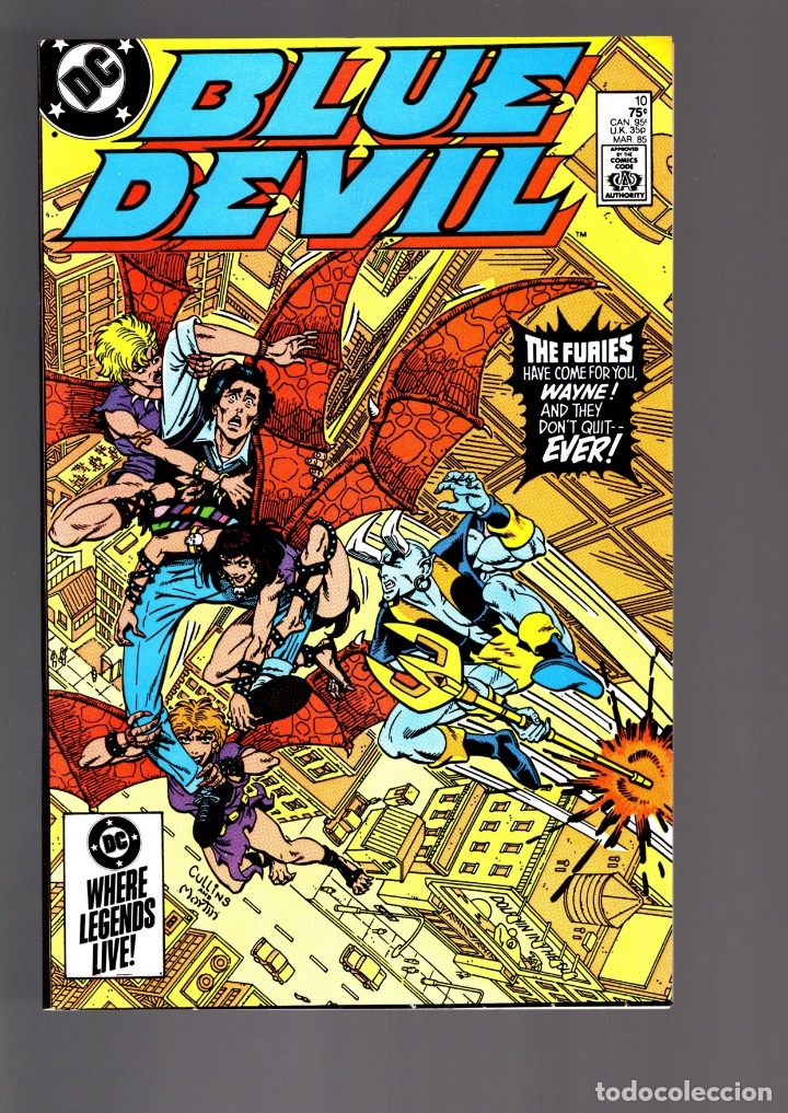 BLUE DEVIL 10 - DC 1985 VFN/NM / WONDER WOMAN (Tebeos y Comics - Comics Lengua Extranjera - Comics USA)