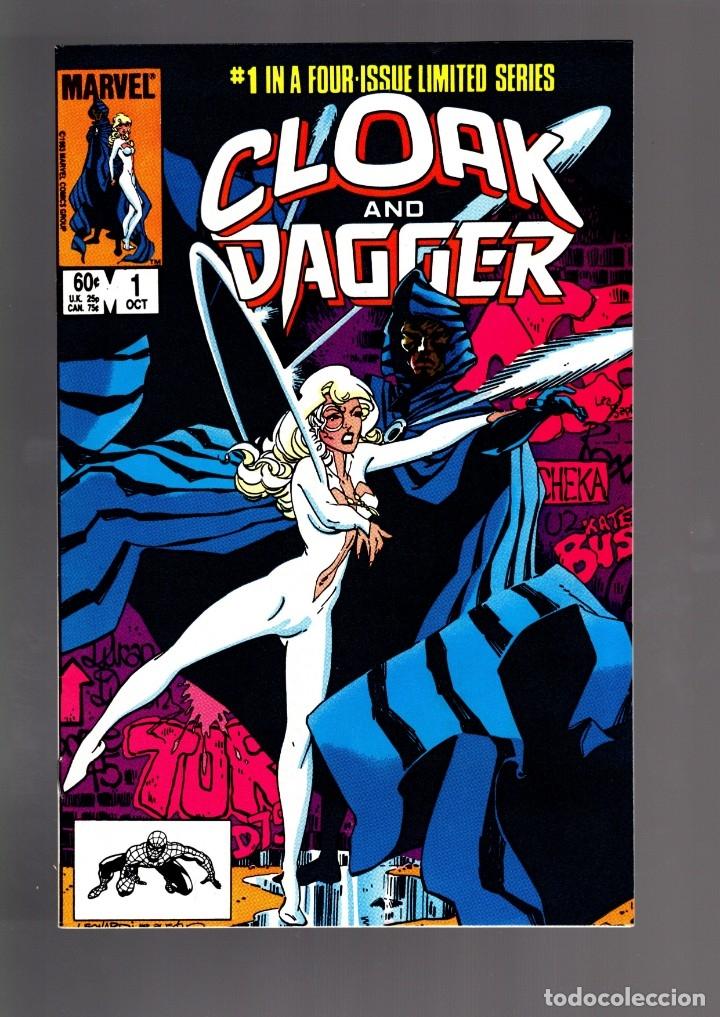 CLOAK AND DAGGER 1 2 3 4 - MARVEL 1983 VFN / PRIMERA LIMITED SERIE COMPLETA / MANTLO & RICK LEONARDI (Tebeos y Comics - Comics Lengua Extranjera - Comics USA)