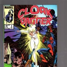 Cómics: CLOAK AND DAGGER 3 - MARVEL 1985 VFN/NM / BILL MANTLO & RICK LEONARDI / SPIDER-MAN. Lote 175568903