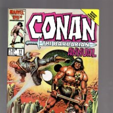 Cómics: CONAN THE BARBARIAN ANNUAL 11 - MARVEL 1986 VFN. Lote 175571967