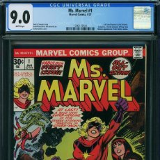 Cómics: COMIC USA MS MARVEL 1 CGC 9.0 WHITE PAGES. MARVEL 1977.. Lote 176203077