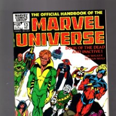 Fumetti: OFFICIAL HANDBOOK OF THE MARVEL UNIVERSE 13 BOOK OF THE DEAD # MARVEL 1984 VFN/NM / 1ST EDITION. Lote 176551902