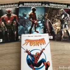 Cómics: LOTE 12 COMICS MARVEL SPIDERMAN GUARDIANES DE LA GALAXIA CAPITAN AMERICA VENGADORES DVD. Lote 177239398