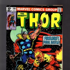 Cómics: THOR 306 - MARVEL 1981 FN / GRUENWALD & POLLARD / FIRELORD. Lote 177286150