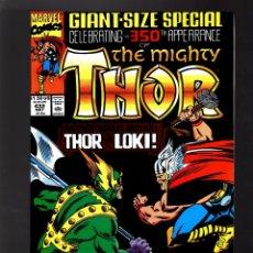 Cómics: THOR 432 - MARVEL 1991 FN/VFN / 350TH ANNIVERSARY GIANT SIZE / VS LOKI. Lote 177297015
