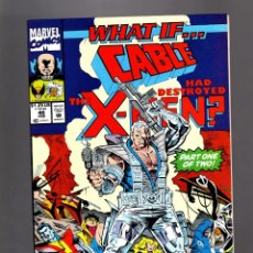 Cómics: WHAT IF 46 - MARVEL 1993 VFN / CABLE HAD DESTROYED THE X-MEN ?. Lote 177882294