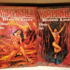 Cómics: VAMPIRELLA BLOOD LUST-MINISERIE DE 2 NÚMEROS-INEDITOS EN ESPAÑA. Lote 178809573