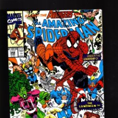 Cómics: AMAZING SPIDER-MAN 348 - MARVEL 1990 VFN/NM / DAVID MICHELINIE & ERIK LARSEN / AVENGERS. Lote 178836840