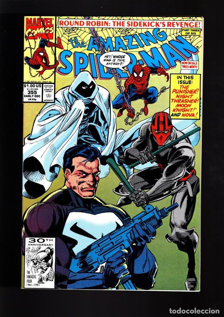 AMAZING SPIDER-MAN 355 - MARVEL 1990 VFN/NM / AL MILGROM & MARK BAGLEY / MOON KNIGHT / PUNISHER (Tebeos y Comics - Comics Lengua Extranjera - Comics USA)