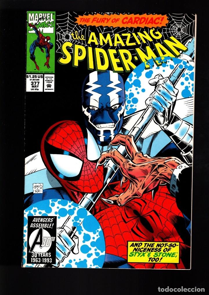 AMAZING SPIDER-MAN 377 - MARVEL 1993 G/VG (Tebeos y Comics - Comics Lengua Extranjera - Comics USA)