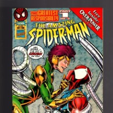 Cómics: AMAZING SPIDER-MAN 406 - MARVEL 1995 VFN / CON OVERPOWER TRADING CARD. Lote 178852587