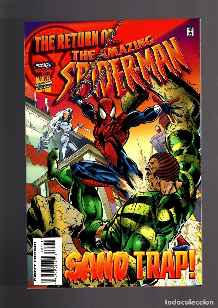 AMAZING SPIDER-MAN 407 - MARVEL 1996 VFN/NM / DEFALCO & BAGLEY / SILVER SABLE (Tebeos y Comics - Comics Lengua Extranjera - Comics USA)