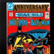 Cómics: BRAVE AND BOLD 200 BATMAN AND BATMAN - DC 1983 VFN / 1ST OUTSIDERS / 1ST KATANA / BARR & GIBBONS. Lote 179197160