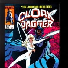 Cómics: CLOAK AND DAGGER 1 - MARVEL 1983 VFN / PRIMERA LIMITED SERIE / MANTLO & RICK LEONARDI. Lote 179321272