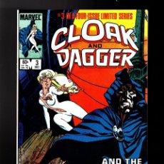 Cómics: CLOAK AND DAGGER 3 - MARVEL 1983 VFN+ / PRIMERA LIMITED SERIE / MANTLO & RICK LEONARDI. Lote 179321801