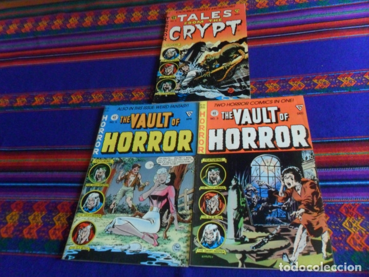 THE VAULT OF HORROR 3 4 5 Y TALES FROM THE CRYPT 5. EC COMIC 1990 REGALO CREEPY 54 EN INGLÉS DRACULA (Tebeos y Comics - Comics Lengua Extranjera - Comics USA)