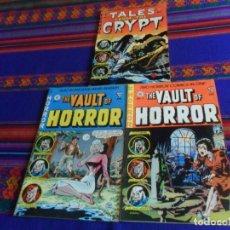 Cómics: THE VAULT OF HORROR 3 4 5 Y TALES FROM THE CRYPT 5. EC COMIC 1990 REGALO CREEPY 54 EN INGLÉS DRACULA. Lote 180188057