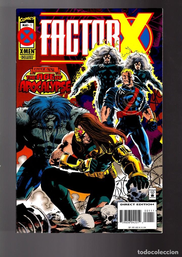 FACTOR-X 1 2 3 4 COMPLETA AGE OF APOCALYPSE - MARVEL 1995 VFN/NM (Tebeos y Comics - Comics Lengua Extranjera - Comics USA)