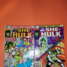 Cómics: THE SAVAGE SHE-HULK. MARVEL COMICS GROUP. 1981. Nº 18 Y 19. ORIGINALES USA. BUEN ESTADO. . Lote 181011347