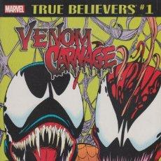 Cómics: TRUE BELIEVERS: VENOM AND CARNAGE (MARVEL, 2018) # 1 - NM - MARK BAGLEY - SPIDER-MAN. Lote 181169052