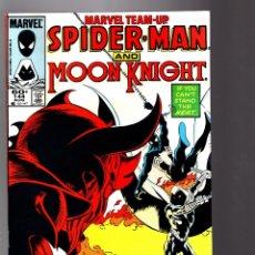 Cómics: MARVEL TEAM UP 144 - 1984 VFN+ / AMAZING SPIDER-MAN & MOON KNIGHT. Lote 181235250
