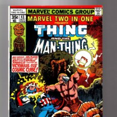 Cómics: MARVEL TWO IN ONE 43 VFN/NM 1978 / THING & MAN-THING & CAPTAIN AMERICA / COSMIC CUBE / JOHN BYRNE. Lote 181459477