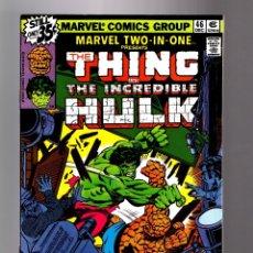 Cómics: MARVEL TWO IN ONE 46 VFN+ 1978 / THING & HULK / ALAN KUPPERBERG. Lote 181460451