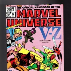 Fumetti: OFFICIAL HANDBOOK OF THE MARVEL UNIVERSE 12 - MARVEL 1983 VFN/NM / 1ST EDITION. Lote 181740660