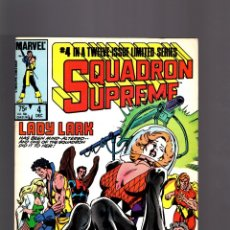 Cómics: SQUADRON SUPREME 4 - MARVEL 1985 VFN-. Lote 182067313
