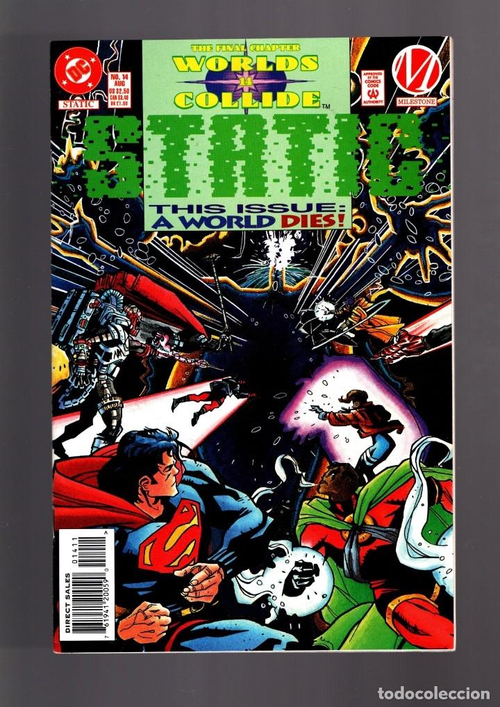STATIC 14 - DC MILESTONE 1994 VFN/NM / WORLDS COLLIDE THE FINAL CHAPTER / SUPERMAN (Tebeos y Comics - Comics Lengua Extranjera - Comics USA)