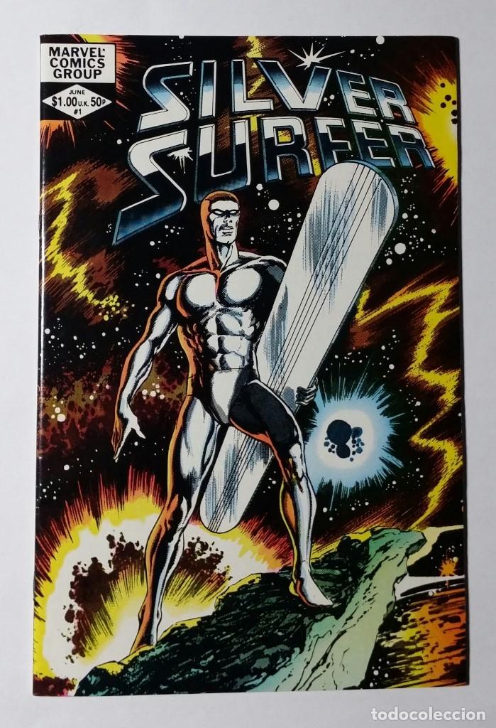 Cómics: EXCEPCIONAL LOTE COMIC USA ESTELA PLATEADA. FANTASTIC FOUR 72 (1968) + SILVER SURFER 1 (1982). - Foto 3 - 137245666