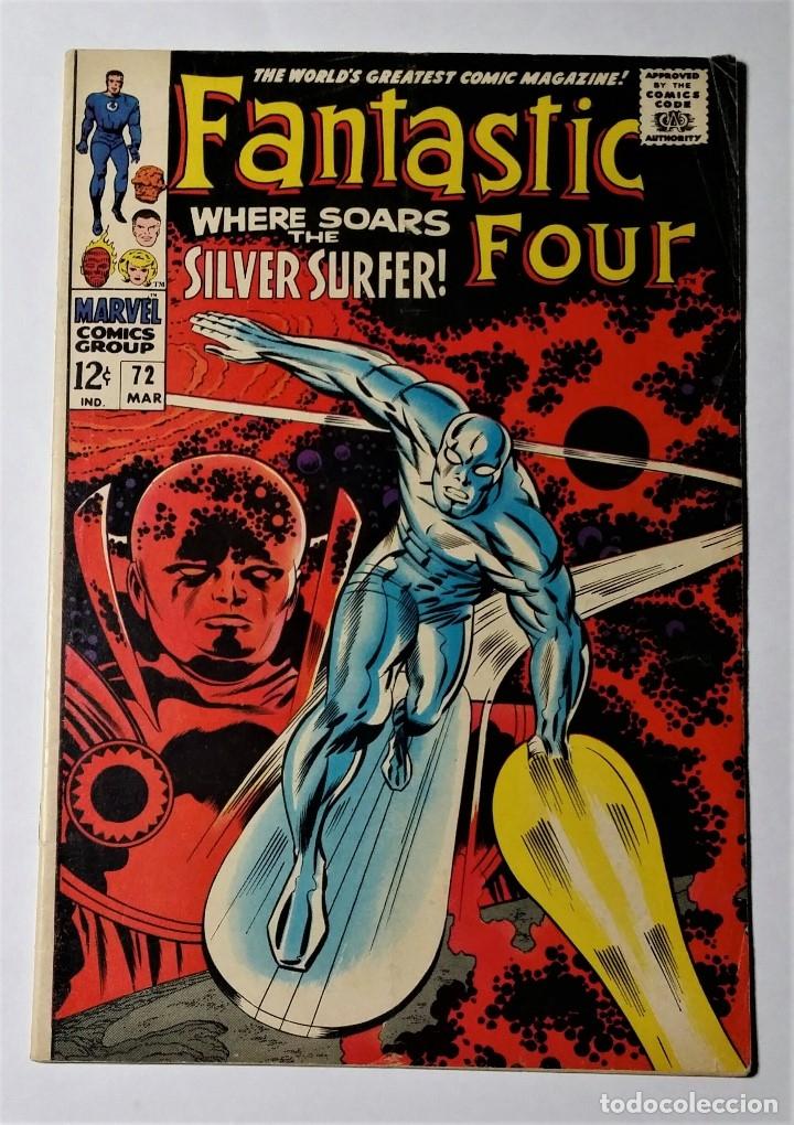 EXCEPCIONAL LOTE COMIC USA ESTELA PLATEADA. FANTASTIC FOUR 72 (1968) + SILVER SURFER 1 (1982). (Tebeos y Comics - Comics Lengua Extranjera - Comics USA)