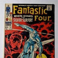 Cómics: EXCEPCIONAL LOTE COMIC USA ESTELA PLATEADA. FANTASTIC FOUR 72 (1968) + SILVER SURFER 1 (1982).. Lote 137245666