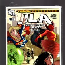 Cómics: JLA JUSTICE LEAGUE 123 - DC 2005 NM / HARRAS & DERENICK / WORLD WITHOUT A JUSTICE LEAGUE. Lote 182578042