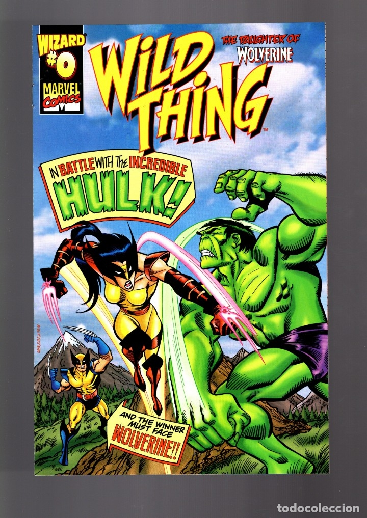 WILD THING WOLVERINE'S DAUGHTER 0 - MARVEL 1999 VFN WIZARD SPECIAL EDITION / VS HULK (Tebeos y Comics - Comics Lengua Extranjera - Comics USA)